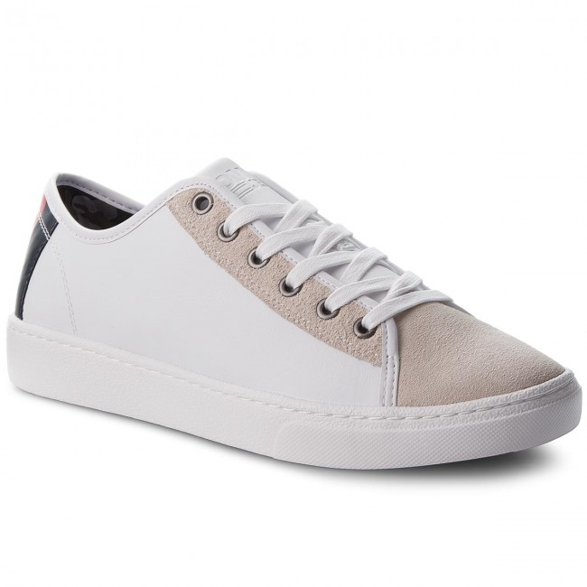 Sneaker 100 Em0em00124 Sneakers White Light Tommy Mix Jeans Color POukiXZ