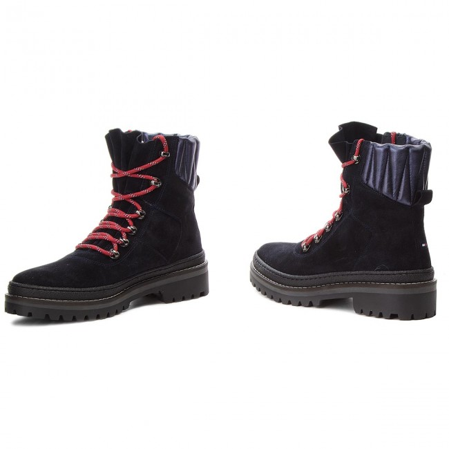 Bottes de randonnée TOMMY HILFIGER Modern Hiking Boot Suede FW0FW03048 Midnight 403