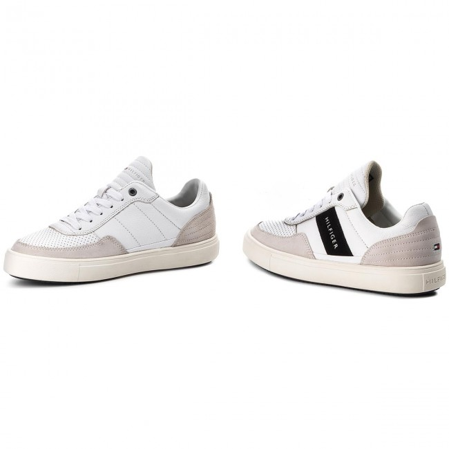 Sneakers TOMMY HILFIGER Lightweight Material Mix Low Cut FM0FM01706 White 100