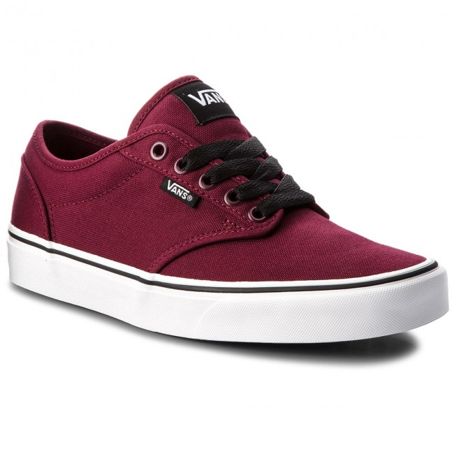 Tennis VANS - Atwood VN000TUY8J3 (Canvas) Oxblood/White