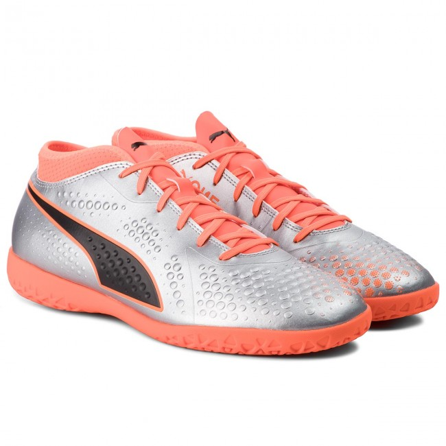 Chaussures PUMA - One 4 Syn It 104750 01 Silver/Orange/Black - Football - Chaussures de sport - Homme
