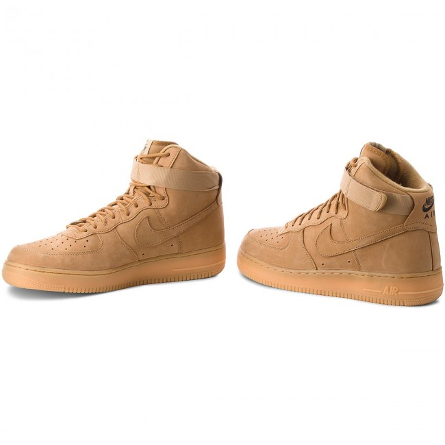 Chaussures NIKE Air Force 1 High '07 Lv8 Wb 882096 200 FlaxFlaxOutdoor Green