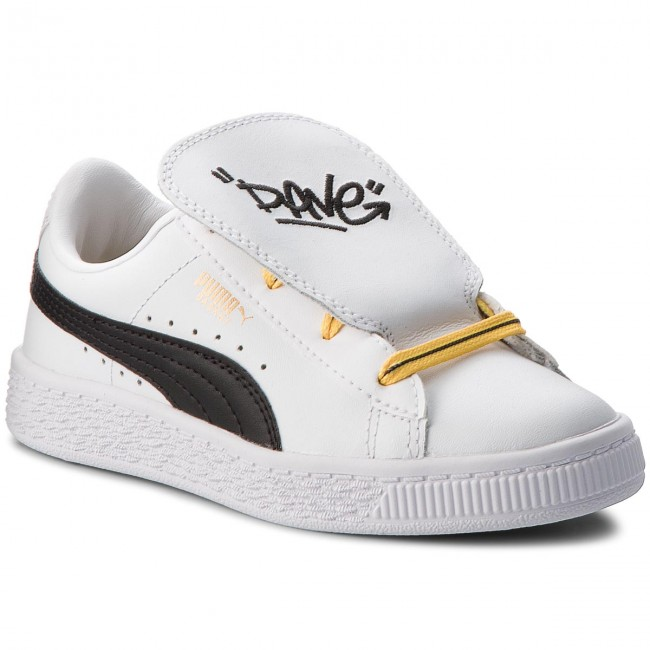 Sneakers PUMA Minions Basket Tongue Ps 365151 01 WhiteBlackMinion Yellow