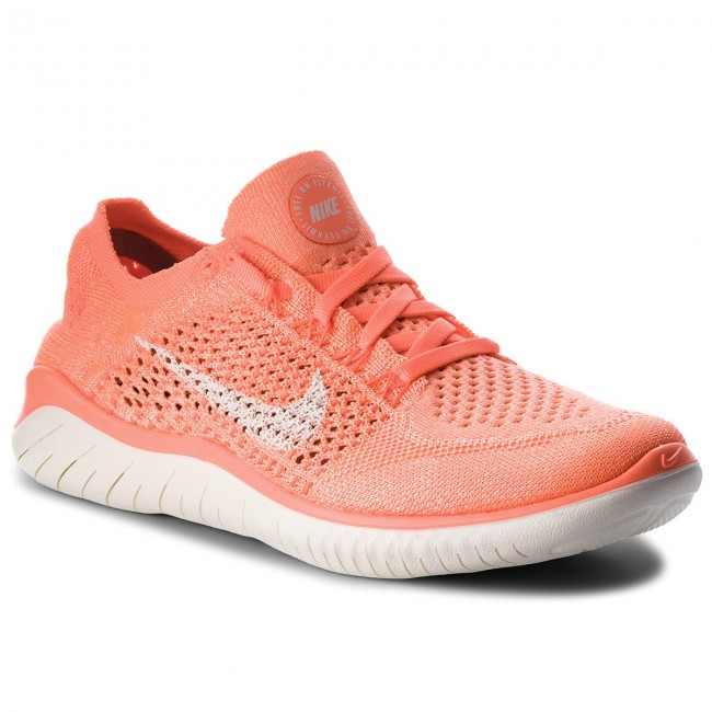 check out cheaper exclusive shoes Chaussures NIKE - Free Rn Flyknit 2018 942839 801 Crimson Pulse/Sail