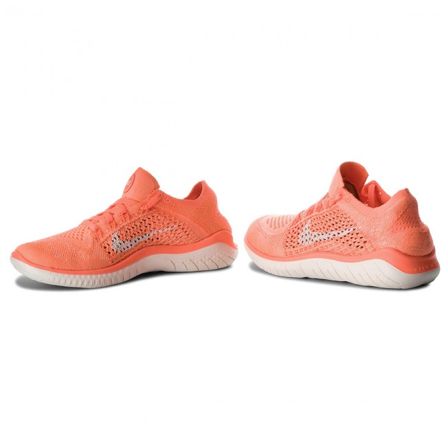 Chaussures Nike Free Rn Flyknit 2018 942839 801 Crimson Pulse/sail