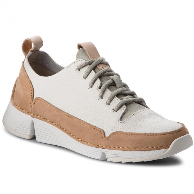 Tri Clarks Sneakers Leather Spark261353304 White m8Nwvn0