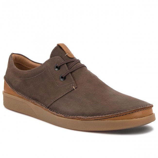 Chaussures Clarks Leather Basses Oakland Dark 261353937 Brown Lace wiTOXklPZu