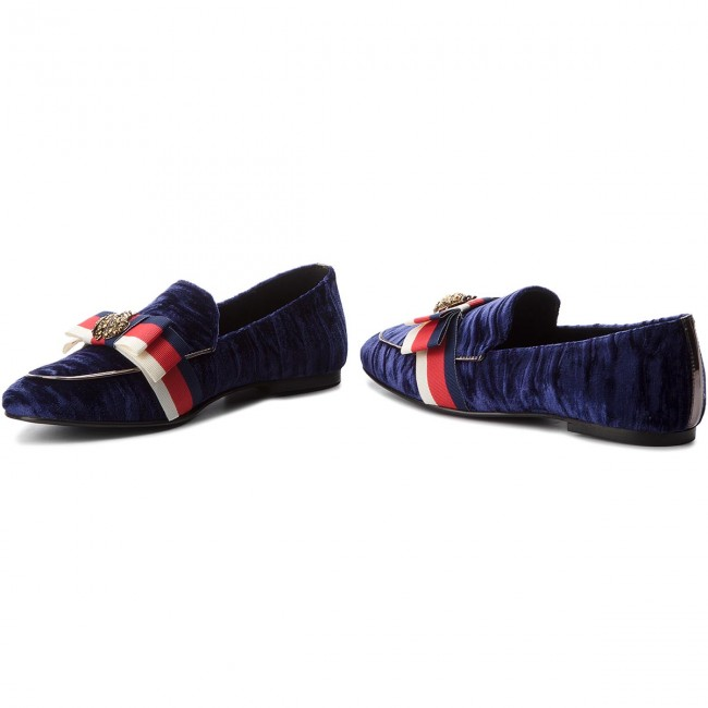Chaussures Basses Hego's Milano 1055 Velluto Blu/nas.francia