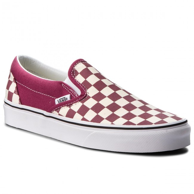 Tennis VANS Classic Slip On VN0A38F7U7A (Checkerboard) Dry RoseW