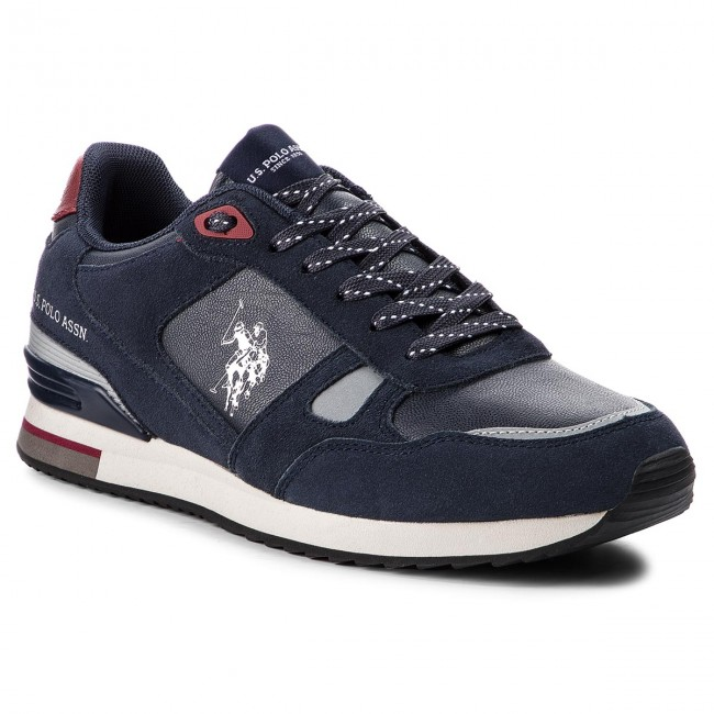 Sneakers U.S. POLO ASSN. - Wilde3 Suede FERRY4083W8/SM1  Dkbl/Red - Sneakers - Chaussures basses - Homme