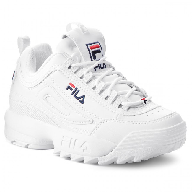1FG White Low Sneakers 1010302 Wmn FILA Disruptor xhCrtsQd