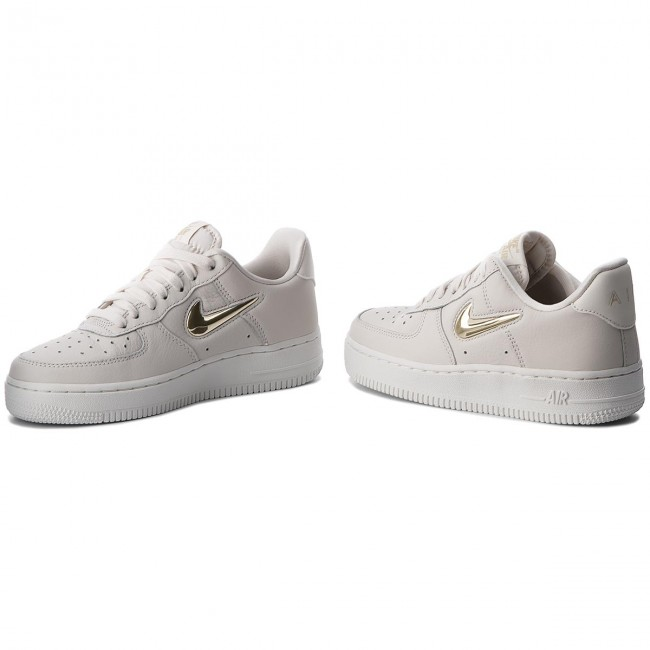 Chaussures NIKE Air Force 1 '07 Prm Lx AO3814 001 PhantomMtlc Gold Star
