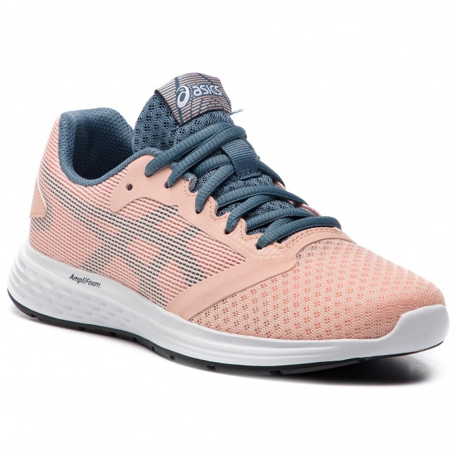 Chaussures ASICS Patriot 10 Gs 1014A025 BakedpinkSteel Blue 700