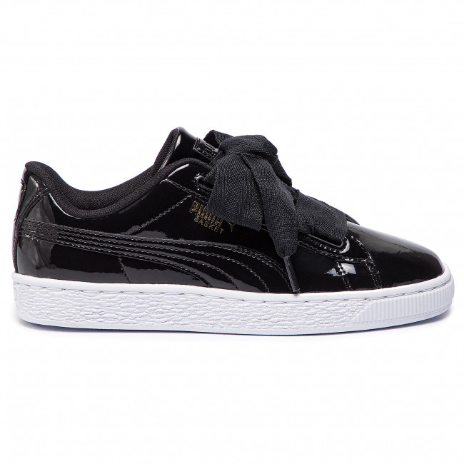 Sneakers PUMA Basket Heart Patent Jr 364817 01 BlackPrism PinkGoldWhite