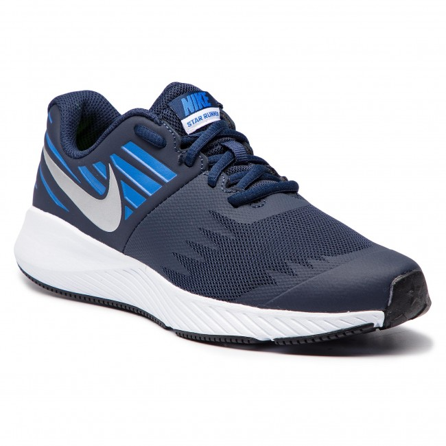 Chaussures NIKE Star Runner (GS) 907254 406 ObsidianMetakkic Silver