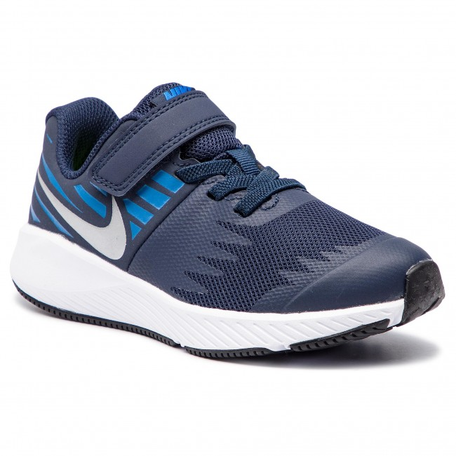 photos officielles 9be85 463c0 Chaussures NIKE - Star Runner (PSV) 921443 406 Obsidian/Metallic Silver