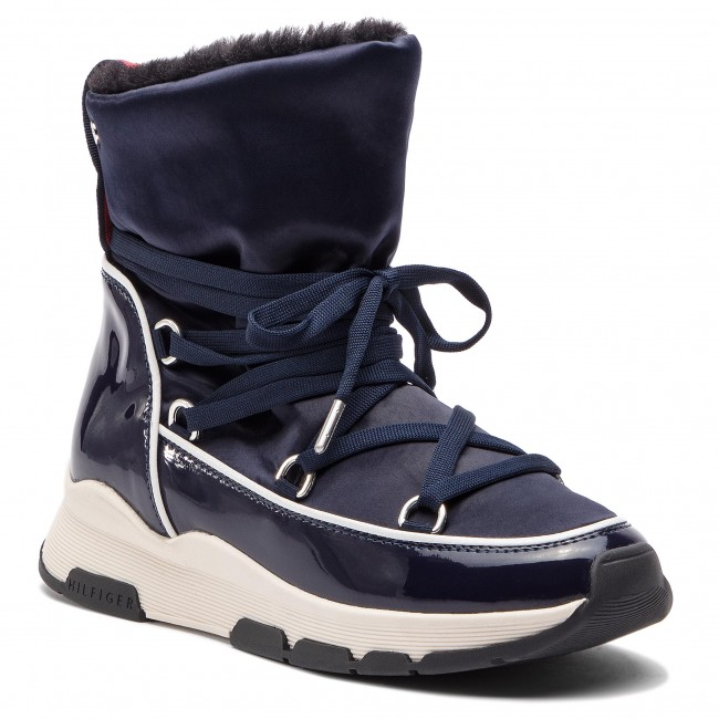 Bottines TOMMY HILFIGER Cool Technical Satin Winter Boot FW0FW03697 Midnight 403