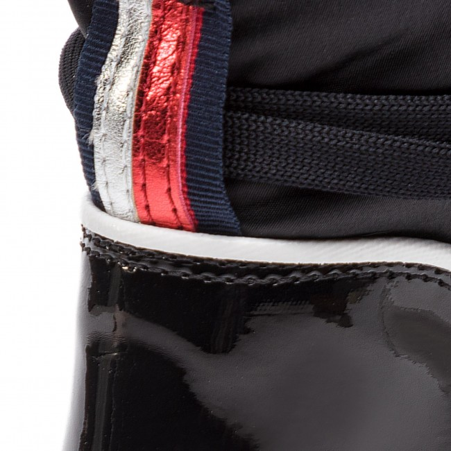 Chaussures TOMMY HILFIGER Cool Technical Satin Winter Boot FW0FW03697 Black 990