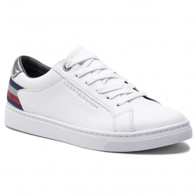 Sneakers TOMMY HILFIGER Essential Sneaker FW0FW03710 White 100