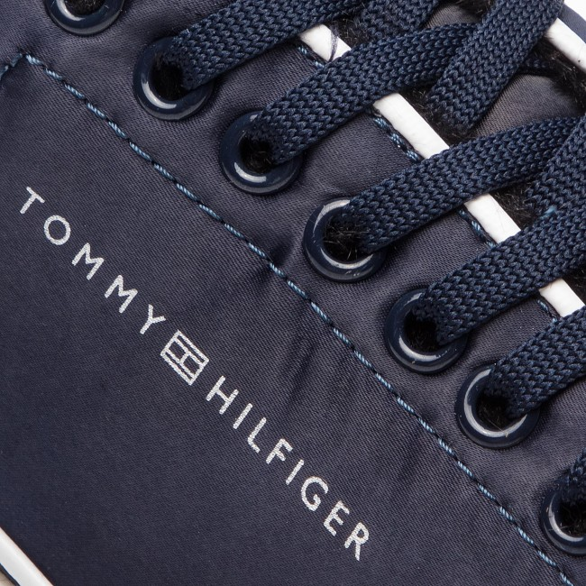 Sneakers TOMMY HILFIGER Cool Technical Satin Sneaker FW0FW03970 Midnight 403