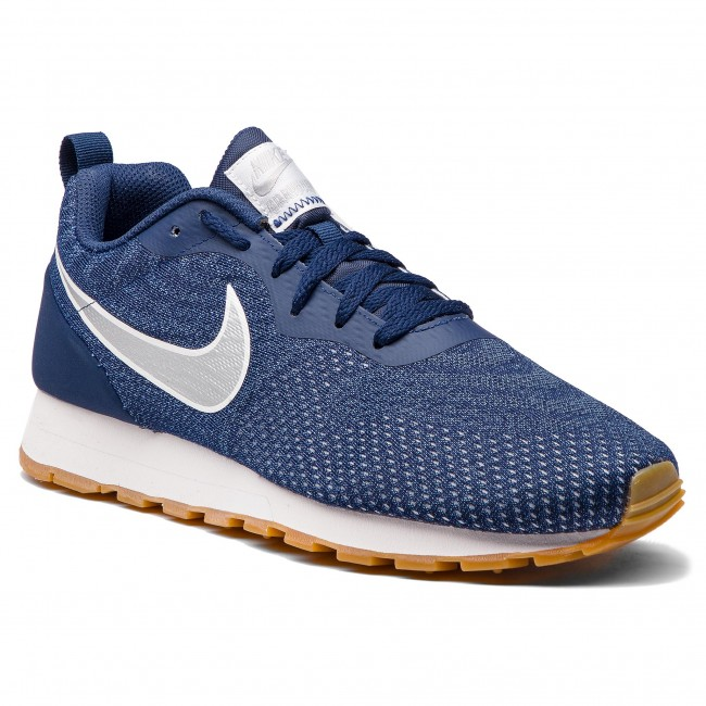 a9c913337 Chaussures NIKE - Md Runner 2 Eng Mesh 916774 402 Midnight Navy/Metallic  Silver