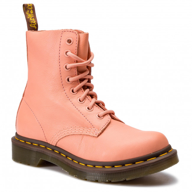 Chaussures Rangers DR. MARTENS 1460 Pascal Virginia 24482672 Salmon Pink