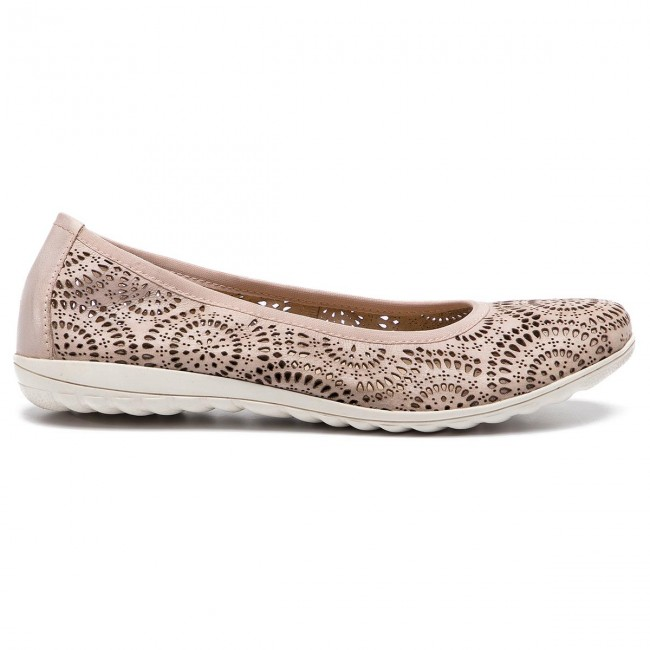 Ballerines Caprice - 9-22550-22 Rose Waxy Napp 513 Chaussures Basses Femme YUozysX7