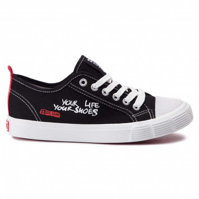abordables Sneakers BIG STAR - DD274827 Black - Baskets - Chaussures basses - Femme Prendre plaisir