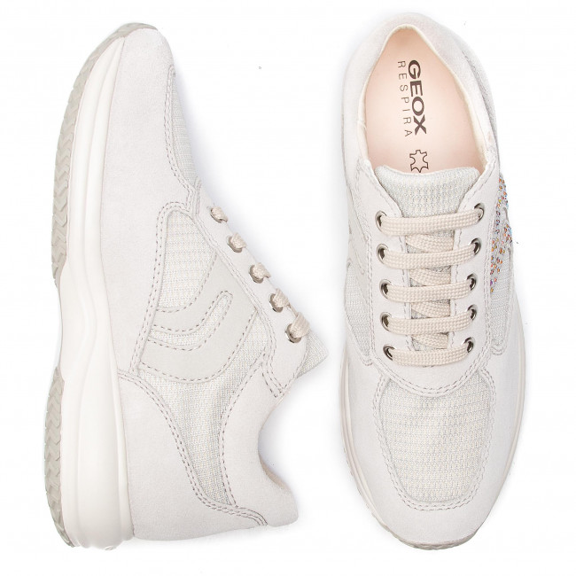 D White Sneakers D5462c Geox C0626 C silver 022ly Off Happy Yfgyvb76