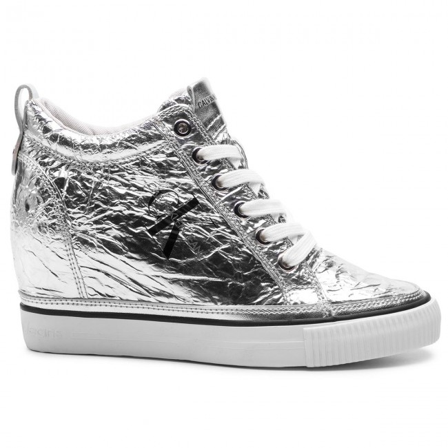 Sneakers Calvin Klein Jeans - Ritzy Re9850 Silver Chaussures Basses Femme