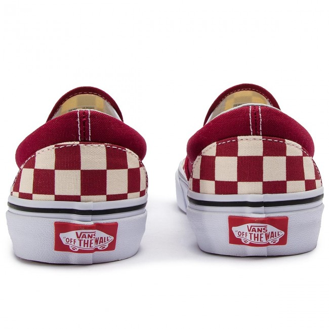 Vn0a38f7vlw1checkerboardRumba Red Classic Vans on Tennis Slip 7I6mfgyYbv
