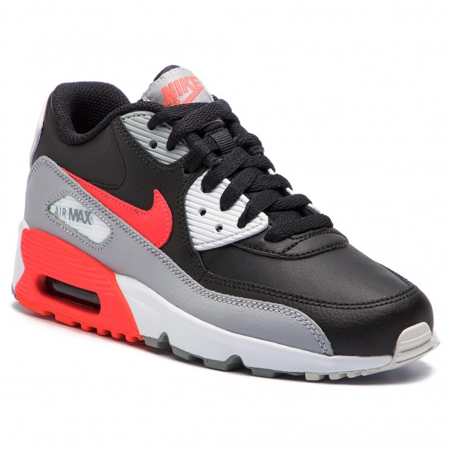 Chaussures NIKE Air Max 90 Ltr (GS) 833412 024 Wolf GreyBright CrimsonBlack