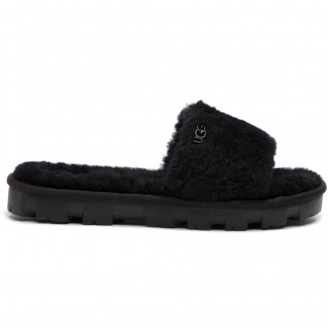 Chaussons UGG - W Lushette Puffer 1106873 Blk - Chaussons - Mules et sandales - Femme