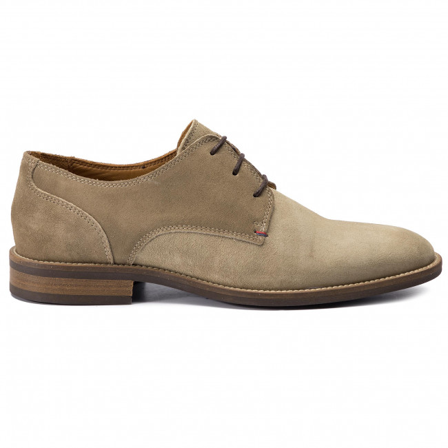 Chaussures basses TOMMY HILFIGER Essential Suede Mix Shoe FM0FM02101 Taupe Grey 005