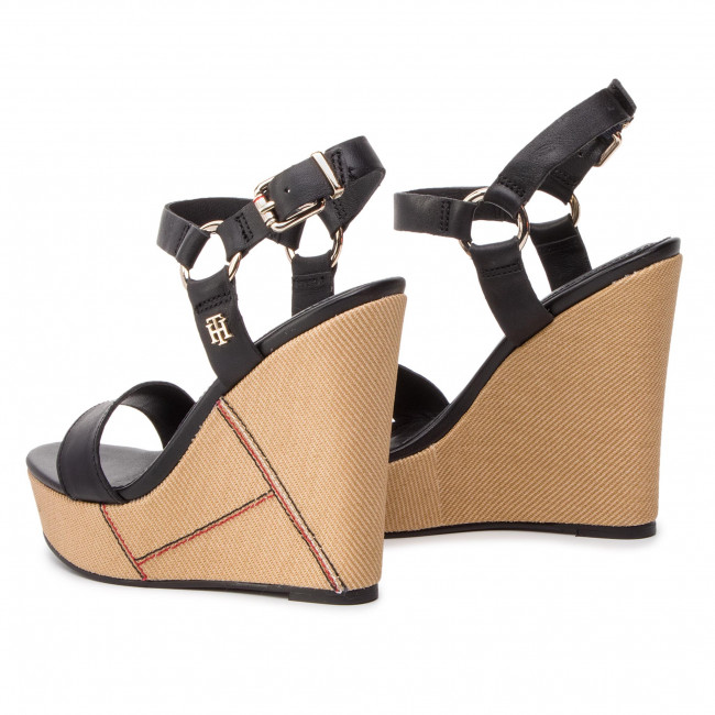 Sandales Elevated Leather Wedge Sandal FW0FW03943 Black 990