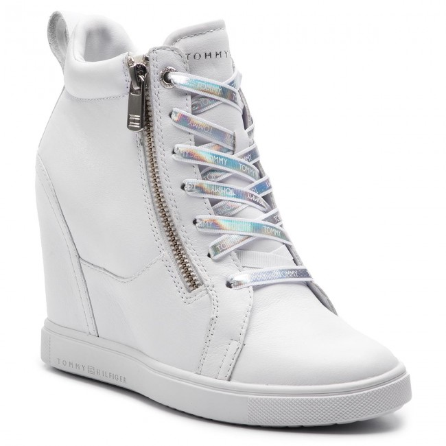 Sneaker White Iridescent Dress Fw0fw03921 Hilfiger Sneakers Tommy BstxrdChQ