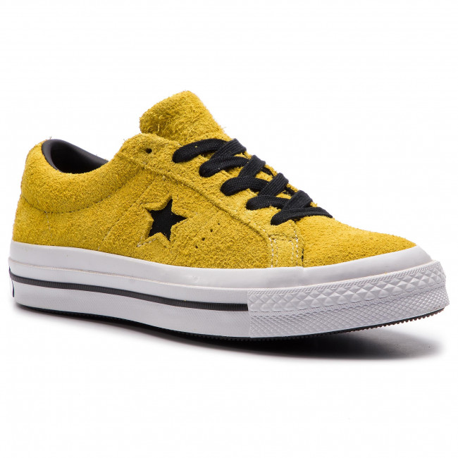 Tennis CONVERSE One Star Ox 163245C Bold CitronBlackWhite