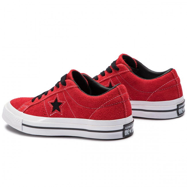 Star Enamel Converse Red Ox 163246c Tennis white One black AR5L4j