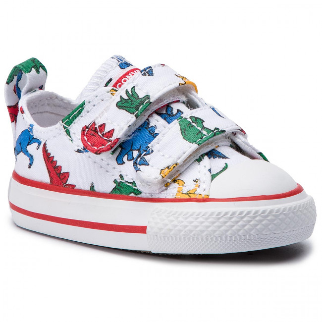 Sneakers CONVERSE - Ctas 2V Ox 763713C White/Enamel Red/T