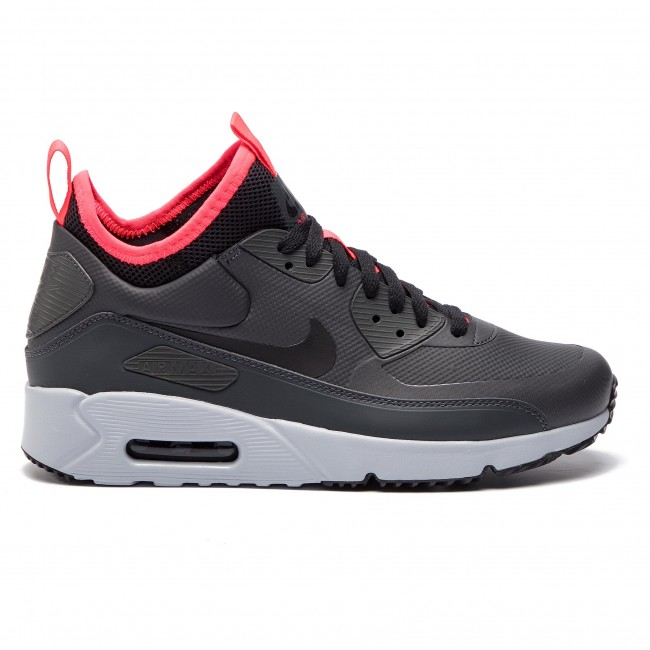 Chaussures NIKE Air Max 90 Ultra Mid Winter 924458 003 AnthraciteBlackSolar Red