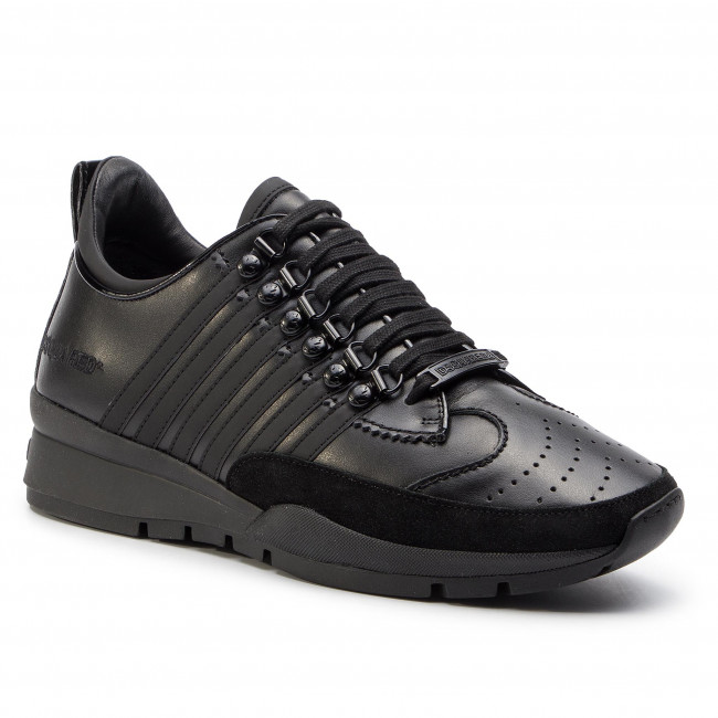 Sneakers DSQUARED2 - Lace-Up Low Top Sneakers SNM0005 01501675 M063 Nero/Bianco  - Sneakers - Chaussures basses - Homme