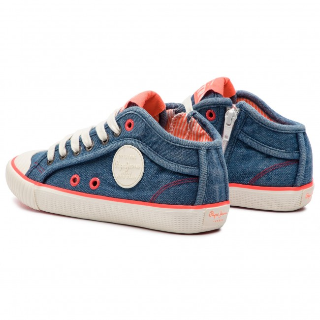 Sneakers PEPE JEANS - Industry Neon PLS30846 Denim 000 - Baskets - Chaussures basses - Femme