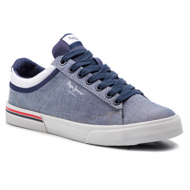 Tennis 564 Pms30542 Jeans Baskets Uvqzmspg Chambray Pepe North Court reoWBdCx