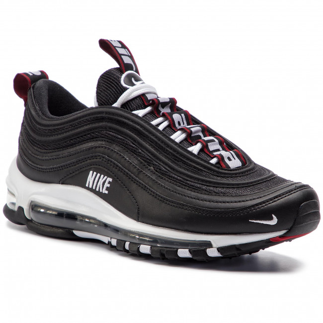 Chaussures NIKE Air Max 97 Premium 312834 008 BlackWhiteVarsity Red