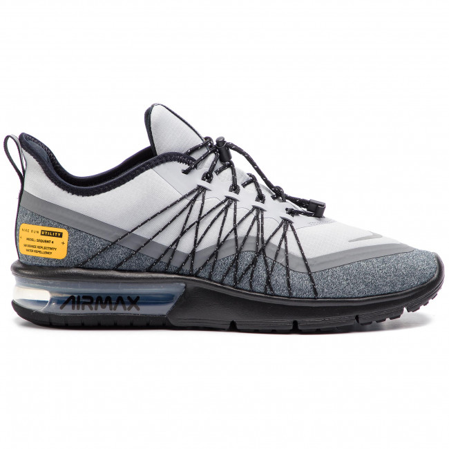 Chaussures NIKE Air Max Sequent 4 Utility AV3236 003 Wolf GreyReflect Silver