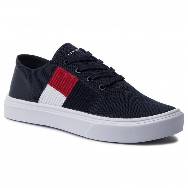Tennis TOMMY HILFIGER Lightweight Knit Flag Sneaker FM0FM02545 Midnight CKI