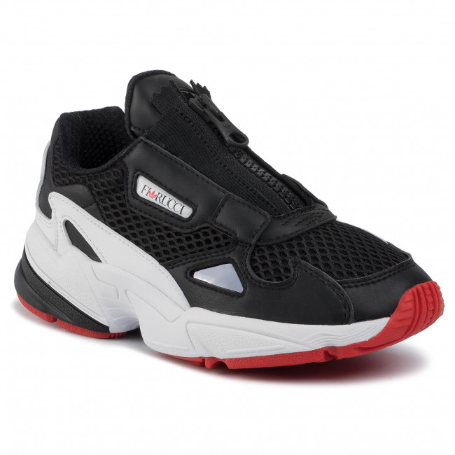abordables Chaussures adidas - Falcon Zip W EF3644 Cblack/Ftwwht/Red - Sneakers - Chaussures basses - Femme  Prendre plaisir