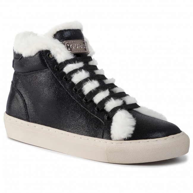 abordables Sneakers GUESS - Furry FJ8FUR ELE12  BLACK - Sneakers - Chaussures basses - Femme  Prendre plaisir