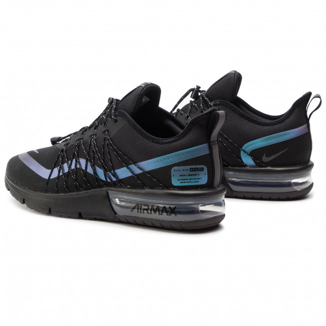 Chaussures NIKE - Air Max Sequent 4 Utility AV3236 005 Black/RacerBlue/Thunder Grey