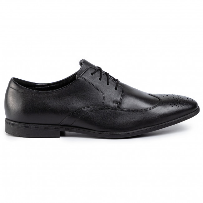 Chaussures Basses Clarks - Bampton Wing 261452927 Black Leather Soirée Homme
